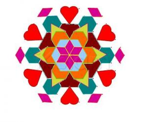Rangoli: Love flower