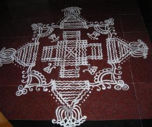 Rangoli: Navarathri day-2