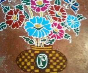 Rangoli: rangoli drawn in pothys contest