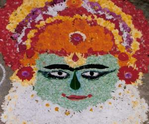 Rangoli: Onam flower arrangement competition