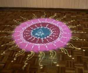 Sanskar bharathi kolam 1