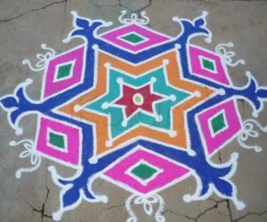 Rangoli: Stars kolam