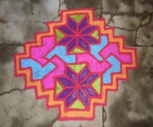 Rangoli: Step kolam