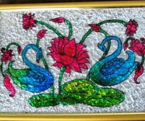 Rangoli: Swan Pair