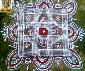 Rangoli: Vinayahar Chadhurthi Kolam