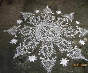 Aadi Amavaasai Kolam