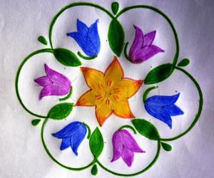 Rangoli: Bluebell