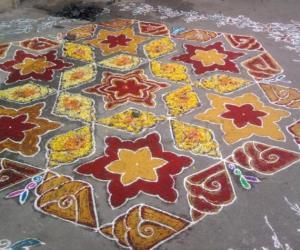 Rangoli: Flowers rangoli
