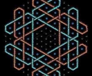 Hexagonal chikku kOlam - 13