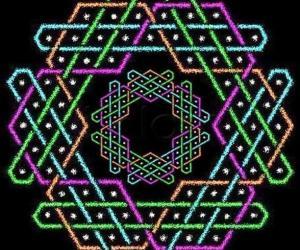 Hexagonal chikku kOlam - 5
