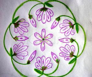 Rangoli: Jasmine Flowers