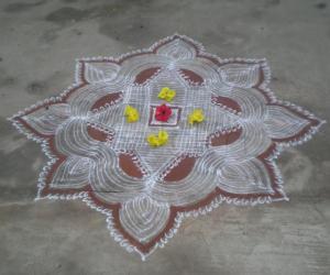 Rangoli: ugathi kolam