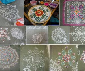 Some rangolis at the event