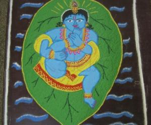 Rangoli: Janmashtami Kolam - 2 (Dotted)