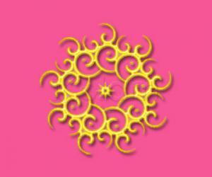 Rangoli: Golden yellow rangoli