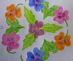 Rangoli: Pansy Flower