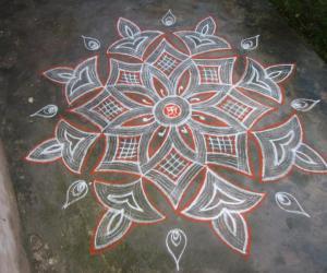 Rangoli: Purattasi 3rd Saturday kolam
