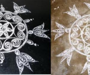 Rangoli: Quilled design of Suganthiji