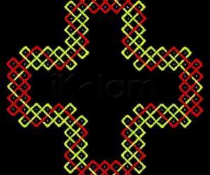 sOnA square (r2 c5, five squares, two colours)