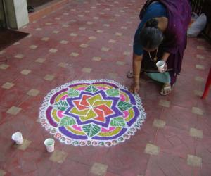 marriage rangoli