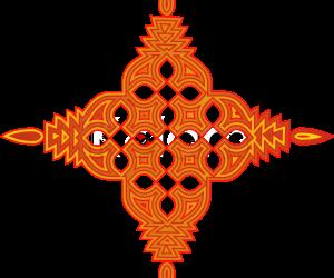 Rangoli cushion