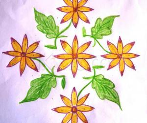 Rangoli: sun flower