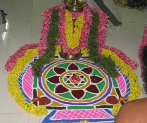 Rangoli: Bhagvati Sevai
