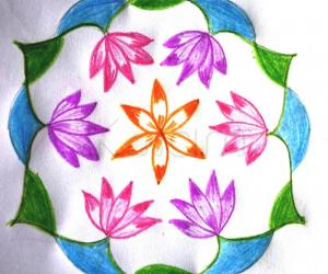 Rangoli: Water Lilly