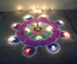 Karthigai deepam rangoli
