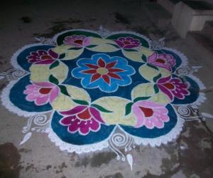 Rangoli: my christmas kolam