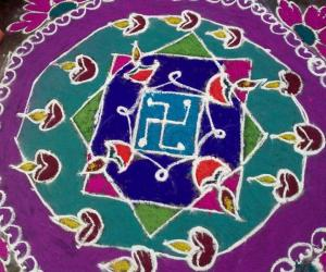 my rangoli for previous sankranthi