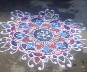 Rangoli for Dussera