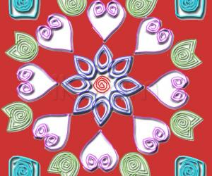 Rangoli: quilling design