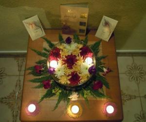 Rangoli: Floral Decoration for Diwali 2010
