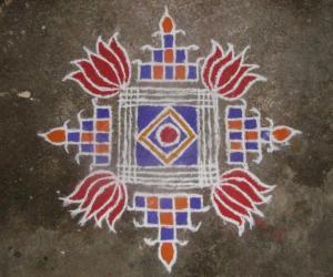 Coloured Padikolam