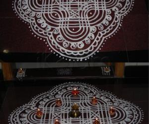 Kolam for Diwali