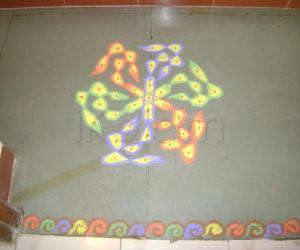 Eighth Day of Navrathri Kolam