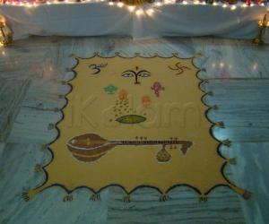 Rangoli put for navarathiri