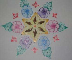 dot flower kolam