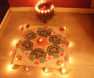 Rangoli: diwali celebrations 2010