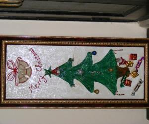 Rangoli: Christmas tree