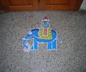 Rangoli: Dotted Rangoli/ Elephant