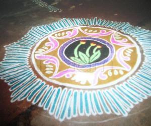free hand rangoli