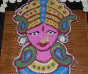 Rangoli: Durga