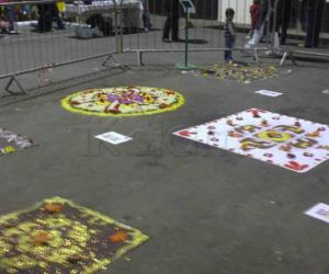Rangoli: Rangoli display for Diwali in dublin (2)