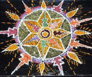Rangoli: Fireworks at night(for the contest)