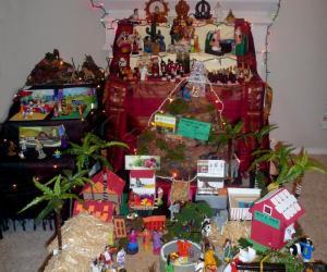 "Navarathri Golu emphasis on ""Health is Wealth"" - 2010 - Full Golu view"