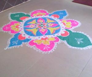 Rangoli: Rangoli done in Office