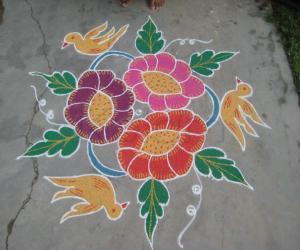 Rangoli: Yesterday's kolam