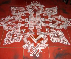 Rangoli: Navrathri Padikolam